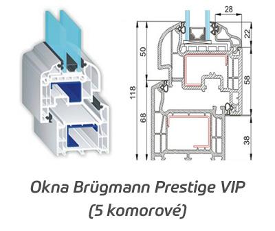 Plastové okna Brugmann Prestige VIP