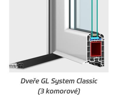 Plastové dveře GL SYSTEM